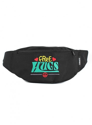 Diamante Wear Free Hugs Black/Green