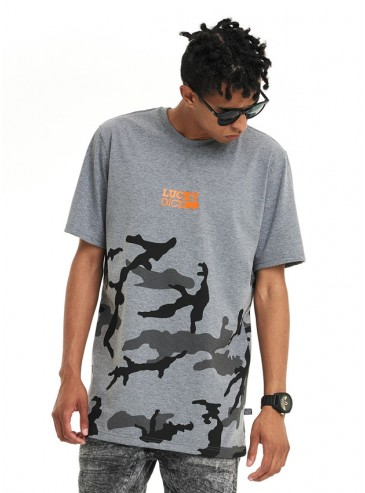 Lucky Dice T-Shirt Urban Camo Dark Grey