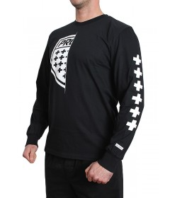 Prosto Longsleeve Klasyk On Half Black