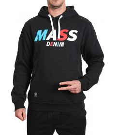 Mass Denim Bluza Sweatshirt Hoody Grand Black