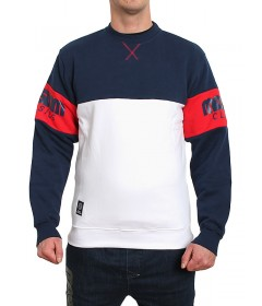 Mass Denim Sweatshirt Crewneck Division White
