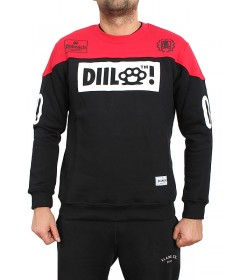 Diil Gang Bluza Crewneck Full Logo Black/Red