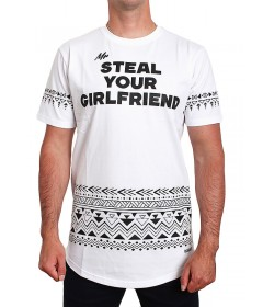 Diamante Wear T-shirt Mr Steal Your Girlfriend White