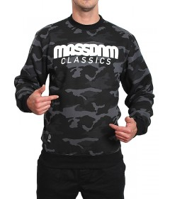 Mass Denim Sweatshirt Crewneck Classics Woodland Camo Black