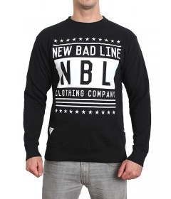 New Bad Line Crewneck Swag Black