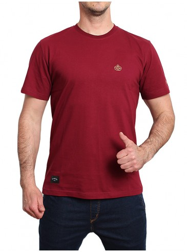 Elade T-Shirt Icon Mini Logo Maroon
