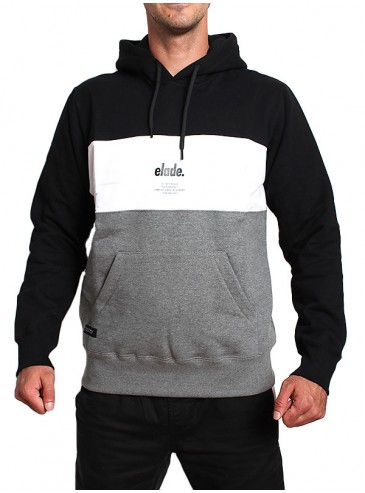 Elade Hoodie Colour Block Black White Grey