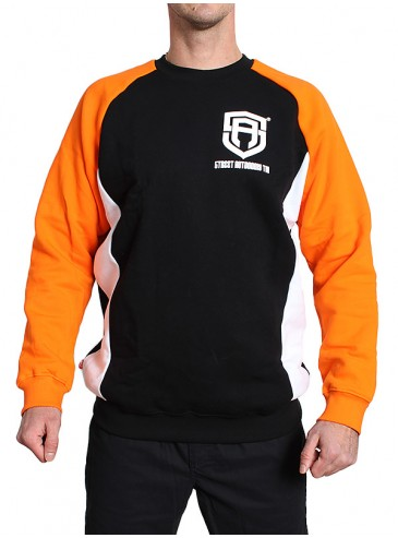 Street Autonomy Crewneck Newcut Black/ Orange