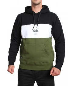 Elade Hoodie Colour Block Black White Olive