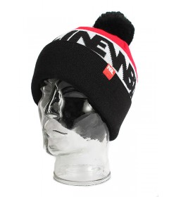 New Bad Line Winter Hat Contur Pompon Red