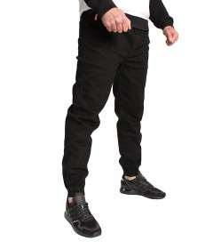 Elade Jogger Baggy Black Jeans Denim