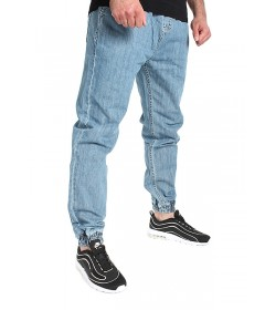 Mass Denim Joggers Jeans Sneaker Fit Signature Light Blue