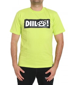 Diil Gang T-shirt Box Logo Lime