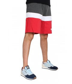 Mass Denim Respect Sweatshorts Red /  Dark Heather Grey