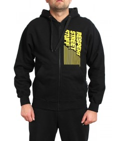 Smoke Story Vertical Sign Hoodie Zip Black