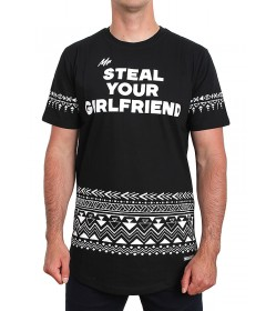 Diamante Wear T-shirt Mr Steal Your Girlfriend Black