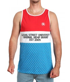 Diil Gang Tank Top OHB Color Red/White/Blue