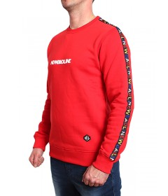 New Bad Line Crewneck Tape Red