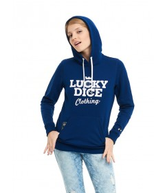 Lucky Dice Bluza Classic Hoodie Girl Navy